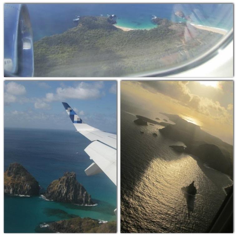 1) Chegando em Noronha 2) Destaque para a Baía dos Porcos 3) Indo embora - mar de fora: Atalaia, Sueste, Leão...