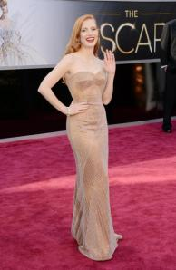 Jessica Chastain de Armani Privé. Lindo né?